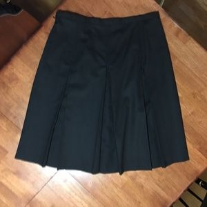 Rafaella Skirts - Rafaella Wool Box-Pleat Skirt, size 12